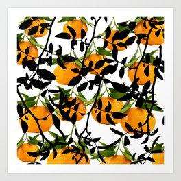 Hiding Mandarins Art Print