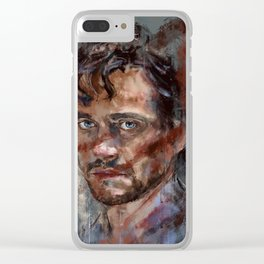 He stares at me - v2 Clear iPhone Case