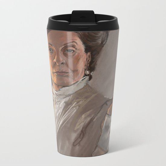 Maggie Smith Gives the Finger Metal Travel Mug