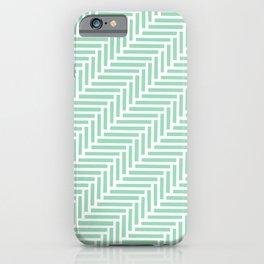 Herringbone 45 Mint Green iPhone Case