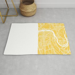 Prague map yellow Rug