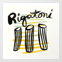 Rigatoni | 100 Days of Cookbook Spots Art Print