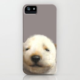 Jindo puppy runny nose iPhone Case