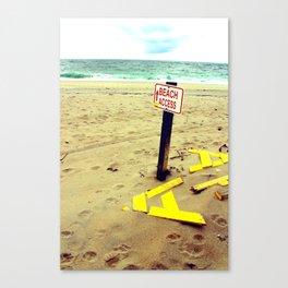 Beach Access Canvas Print