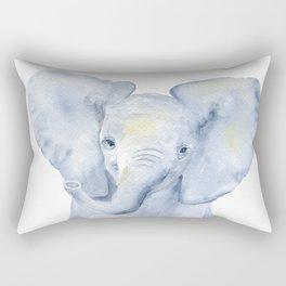 Baby Elephant Watercolor Rectangular Pillow