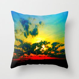 Curdled Clouds Throw Pillow