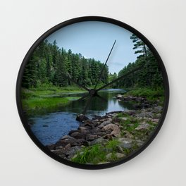 Boundary Waters River Wall Clock