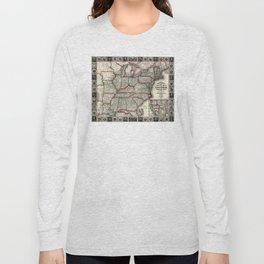 United States - Phelps's National map - 1852 Long Sleeve T-shirt