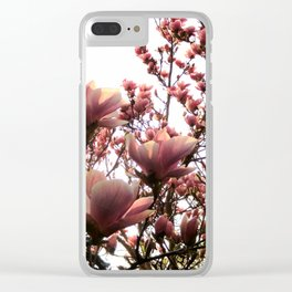 Magnolia Sunset Clear iPhone Case