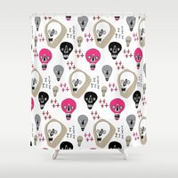 skulls Shower Curtains featuring Skulls by KatrinDesign