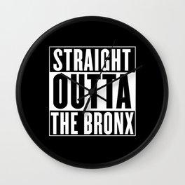 Straight Outta The Bronx Wall Clock