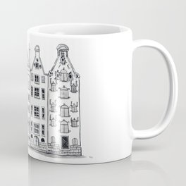 Amsterdam Canal Houses Sketch Coffee Mug
