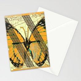 ROADKILL MONARCH BUTTERFLY  & TIRE TRACKS ART Stationery Cards