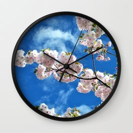A Spring Blossom View Wall Clock