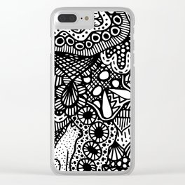 Doodle 13 Clear iPhone Case