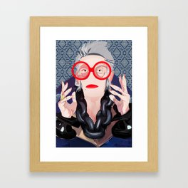 Iris: Blue Framed Art Print