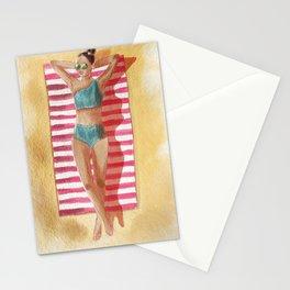Beach I Wish Watercolour  Stationery Cards