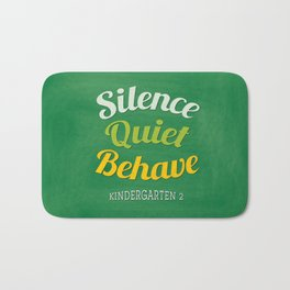 silence-quiet-behave Bath Mat