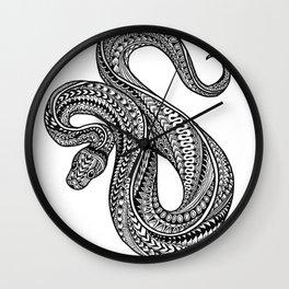 Ornate ball python Wall Clock