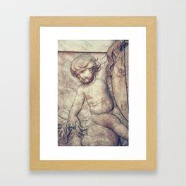 Left Hnad Cherub Framed Art Print