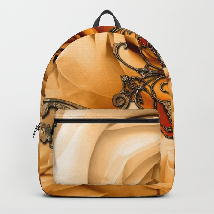 Wonderful roses in soft colors Backpack