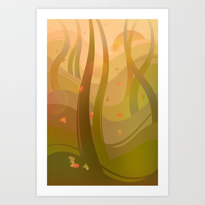 Enchanting Autumn Forest Art Print