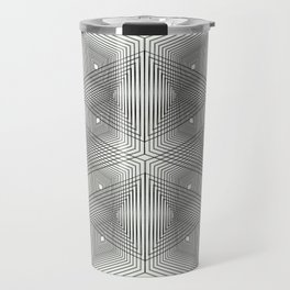 Optical Vibrations in Black and White Travel Mug