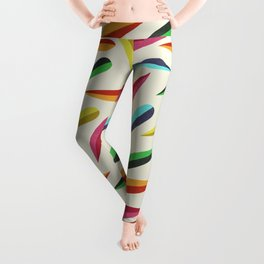 Feathers II Cascading Colors Leggings