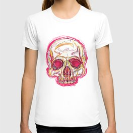 Skull abstract 01 color red T-shirt