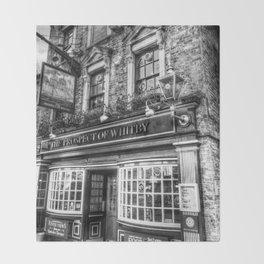 Prospect of  Whitby Pub London 1520 Throw Blanket