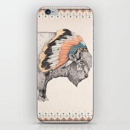 White Bison iPhone Skin