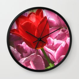 Prima Donna Among The Tulips Wall Clock