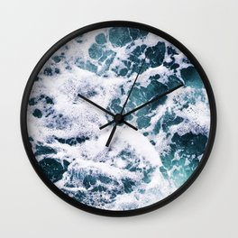 Rough Ocean Wall Clock