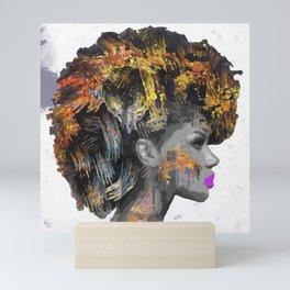 Afro-Girl Mini Art Print
