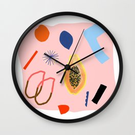 Shapes and Fruits Wall Clock