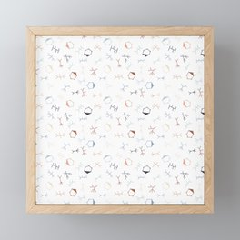 Ditzy Particle Physics on White Framed Mini Art Print