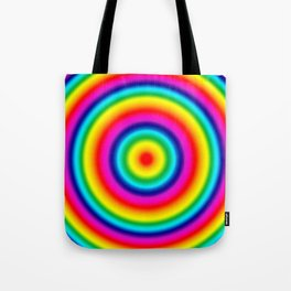 Psychedelic Rainbow Circles Pattern  Tote Bag