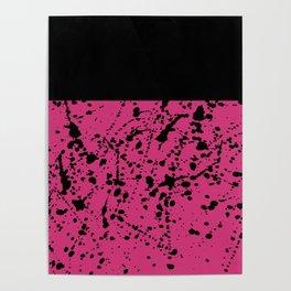 Splat Black On Yarrow Boarder Poster