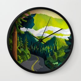 Redwood Highway Wall Clock