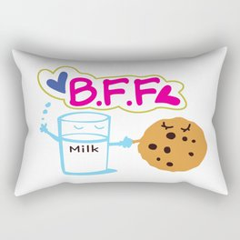 Milk and Choco chip cookie BFF Rectangular Pillow