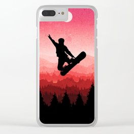 Snowboard Skyline I Clear iPhone Case
