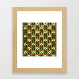 Hawaiian Hibiscus Flowers Palm Trees Framed Art Print
