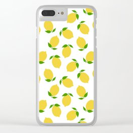LEMON LEMONS FRUIT FOOD PATTERN Clear iPhone Case