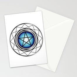 Glowing Pentagram Stationery Cards