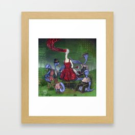A Wedge Of Cranes Framed Art Print