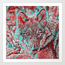 ColorMix Wolf Art Print