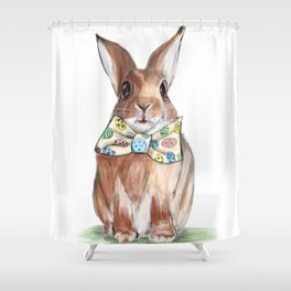 Easter Bunny wearing Bow Tie Shower Curtain