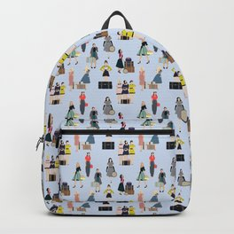 Vintage Travel in Blue Backpack
