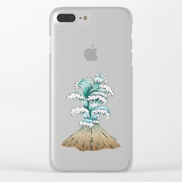 Wave Eruption Clear iPhone Case