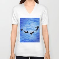 neverland V-neck T-shirts featuring Neverland by Sierra Christy Art